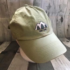 Life is Good Mountain Range Get Out Cap Hat Men's